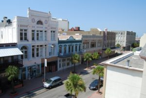 Postoffice Street Galveston views