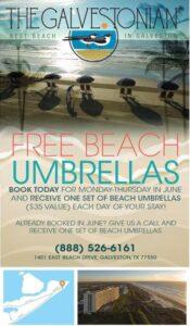 Galvestonian free umbrellas