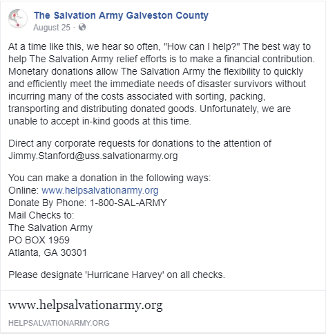 Salvation Army post