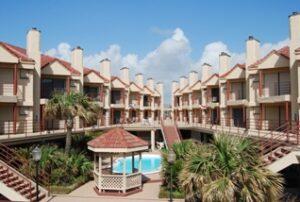 Palms Condominiums courtyard