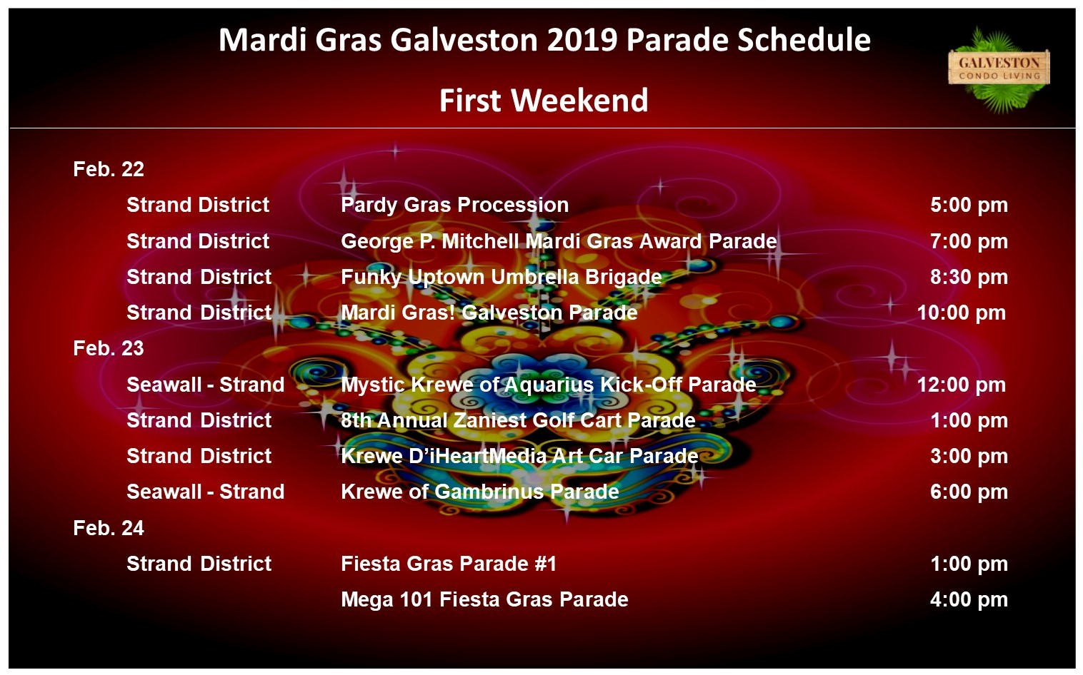Mardi Gras First Weekend