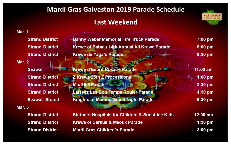 Mardi Gras Last Weekend