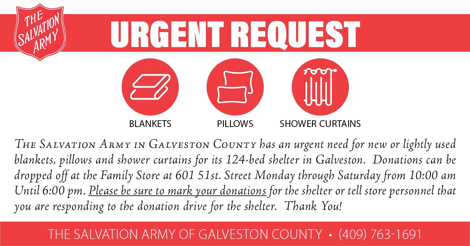 Salvation Army urgent request