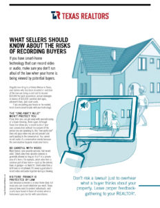 WHAT SELLERS SHOULD KNOW ABOUT THE RISKS OF RECORDING BUYERS