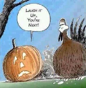 pumpkin turkey cartoon