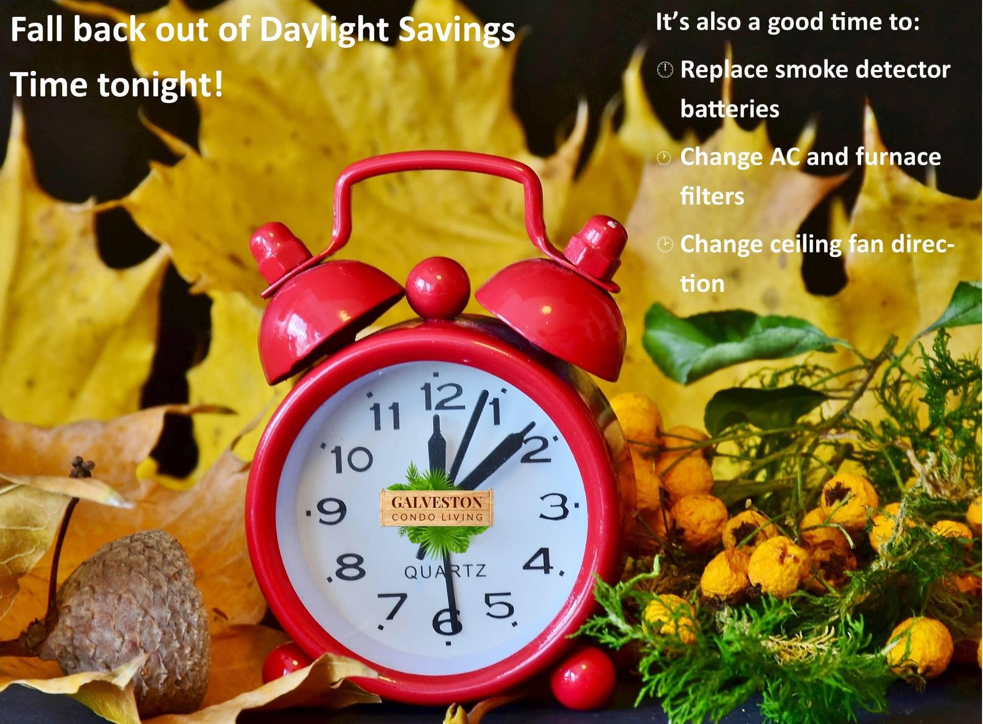 Daylight savings time ends reminder