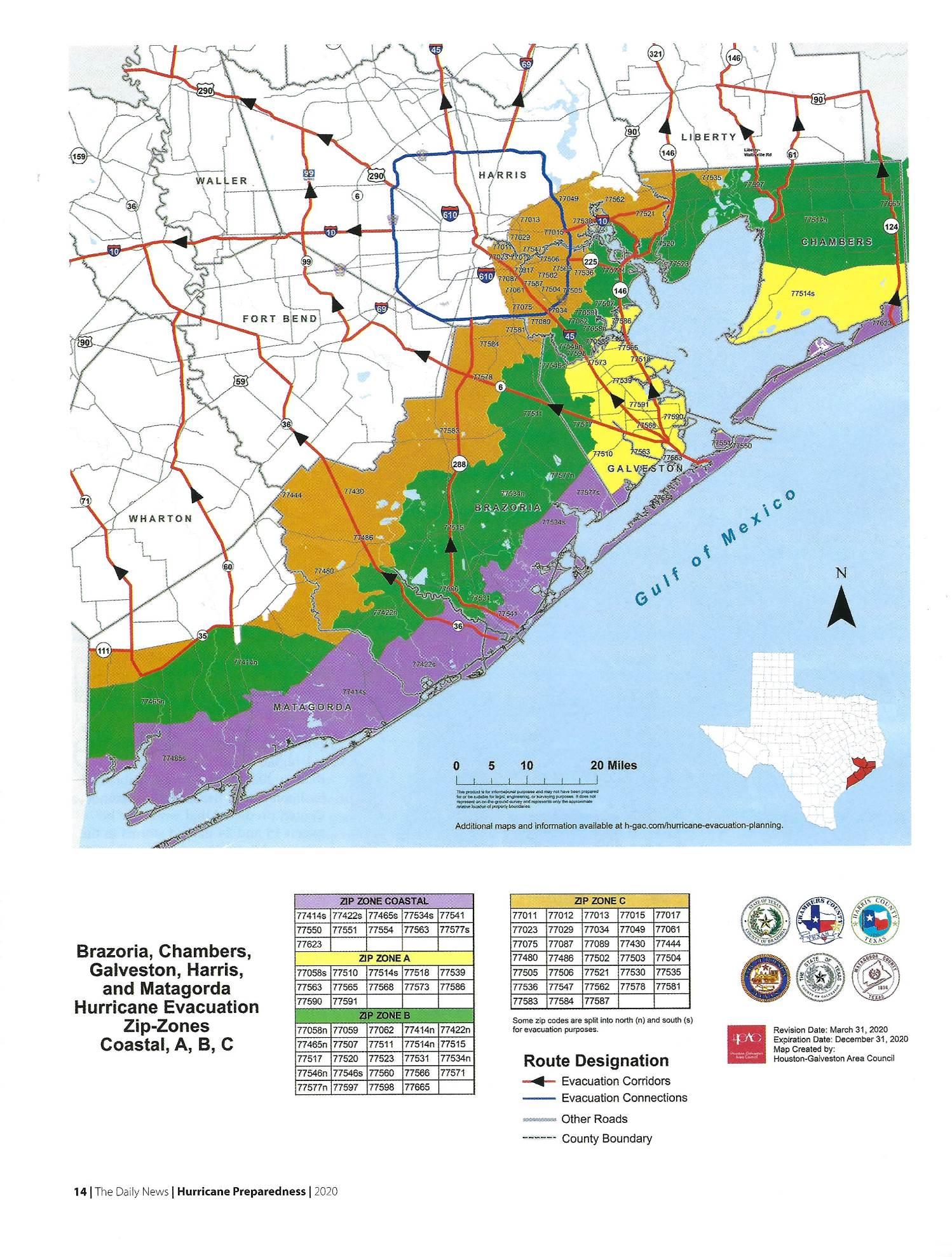 Coastal Evacuation Zones