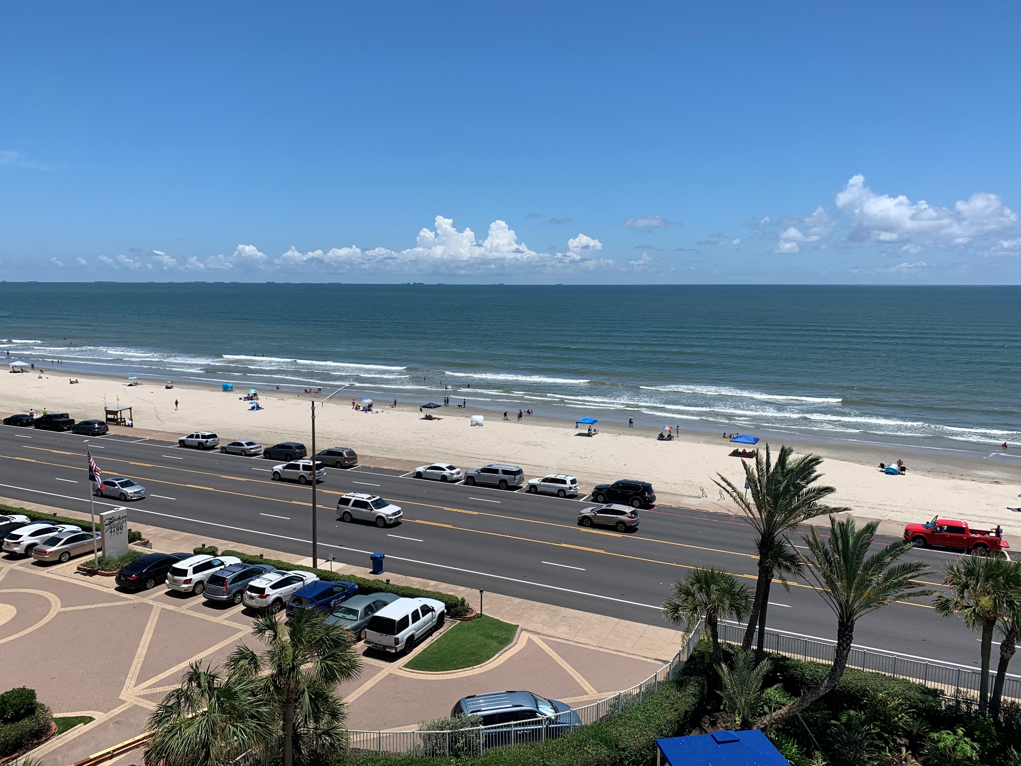 View of Gulf of Mexico from Breakers Condominiums Galveston
