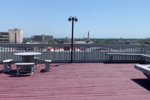 Lofts at Texas Building rooftop deck