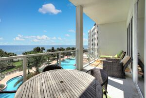 Diamond Beach condominium balcony