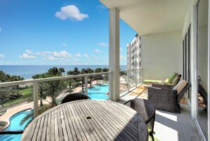 4th Floor Balcony at Diamond Beach Resort Condominiums