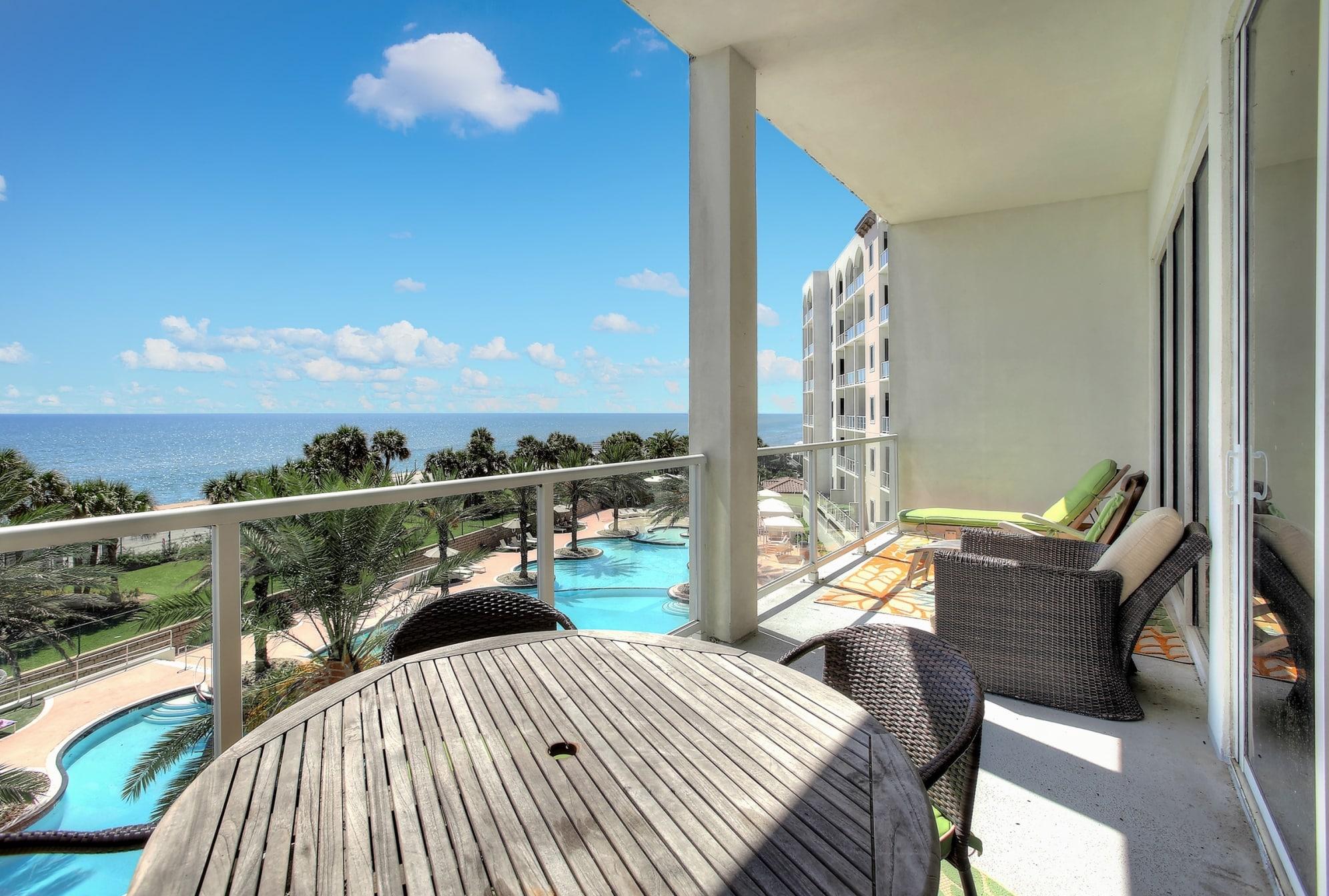 4th Floor Balcony at Diamond Beach Resort Condominiums